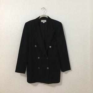 Vintage Liz Claiborne Black Wool Blazer Jacket